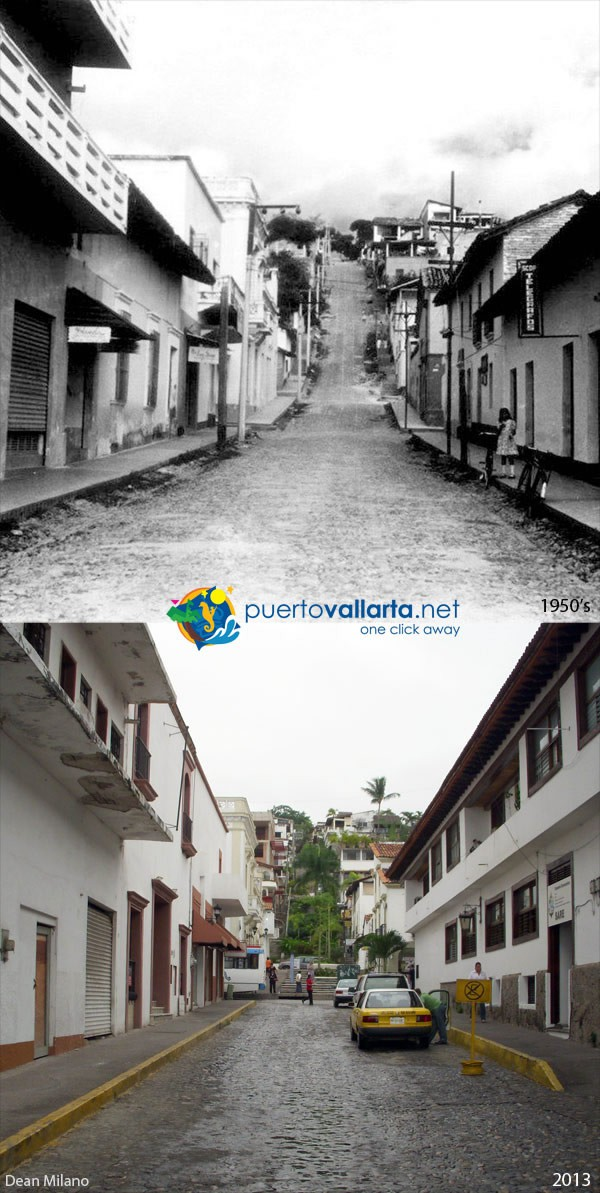 Iturbide Street 1950s vs 2013