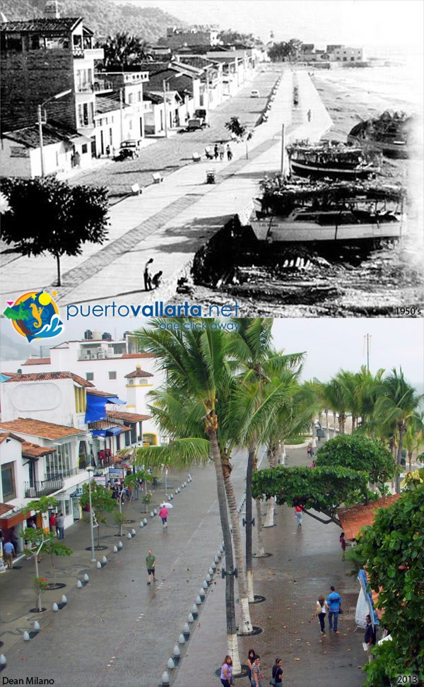 Malecon from Hotel Rosita 1950s vs 2013