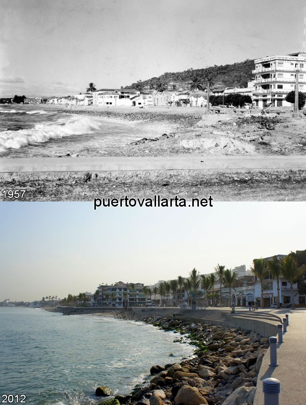 Malecon looking north 1957 vs 2012