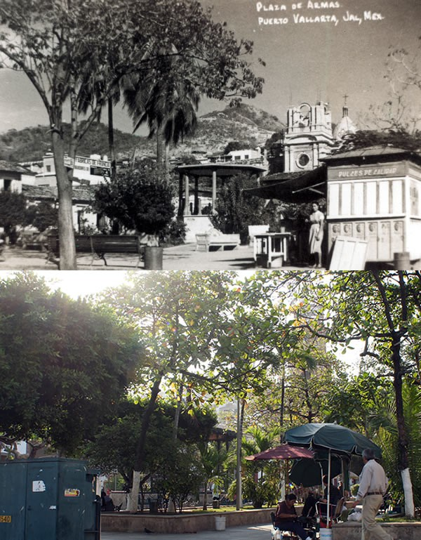 Main Square and Parish 1950s vs 2010s