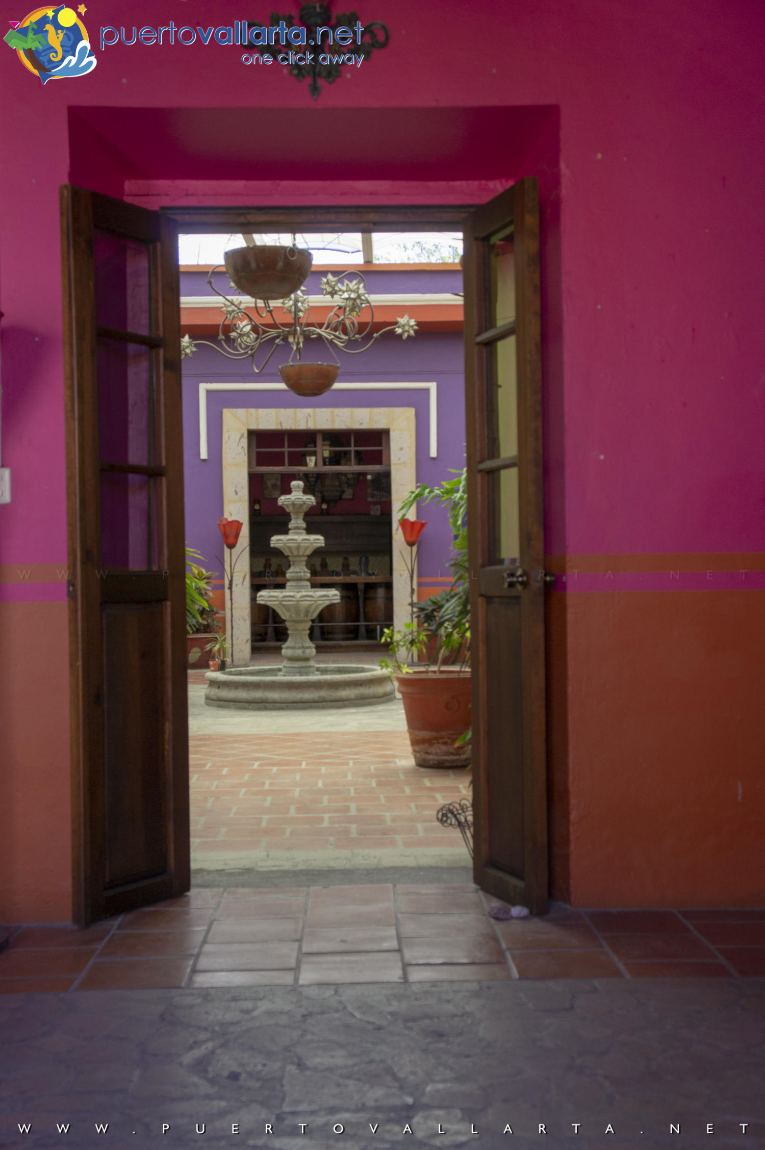 Entrance of elegrant house in Tequila Mexico