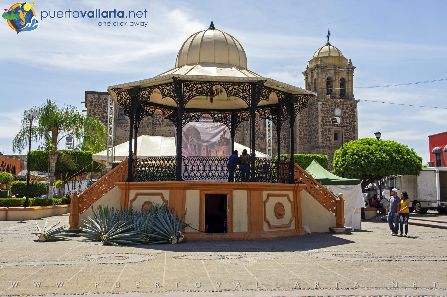 Kiosk on the Main Square of Tequila