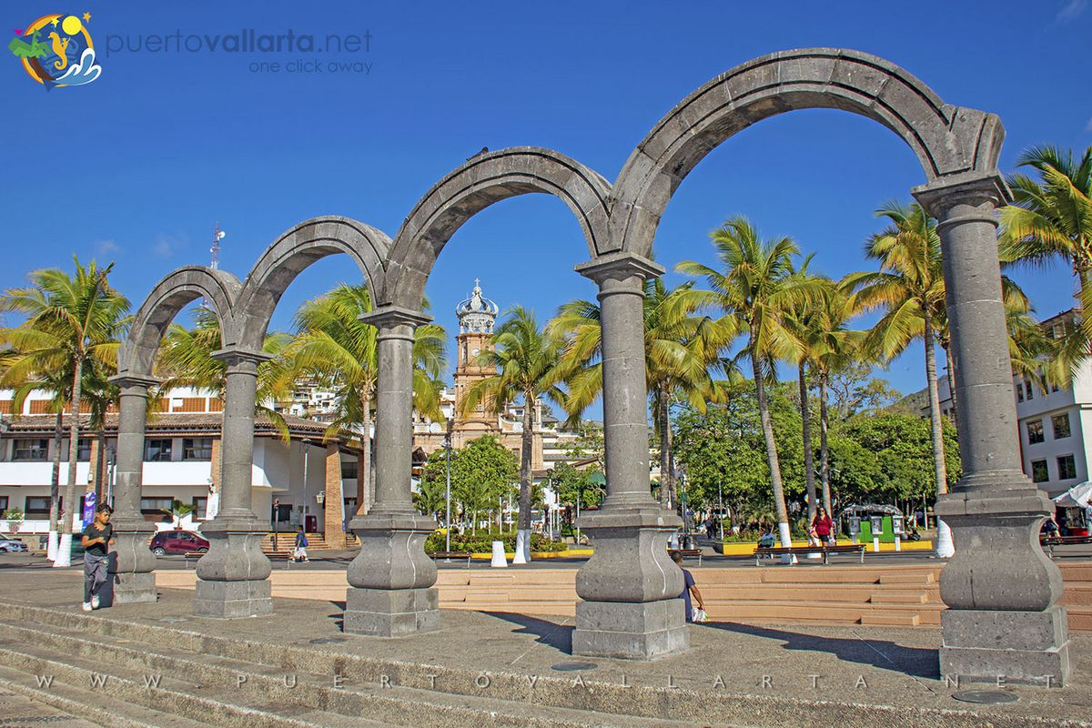 The Malecon Arches, Downtown Puerto Vallarta