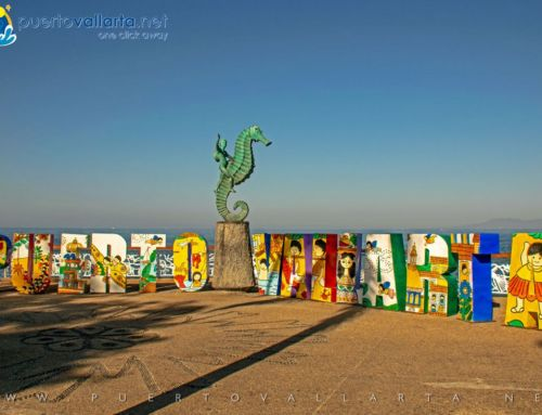 The Puerto Vallarta Sign (Puerto Vallarta Letters) on the Malecon