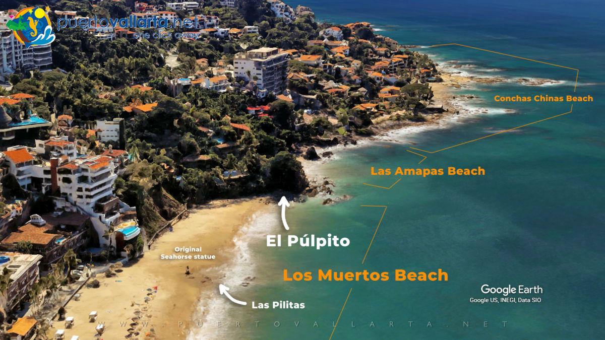El Púlpito (The Pulpit), Los Muertos Beach, Puerto Vallarta