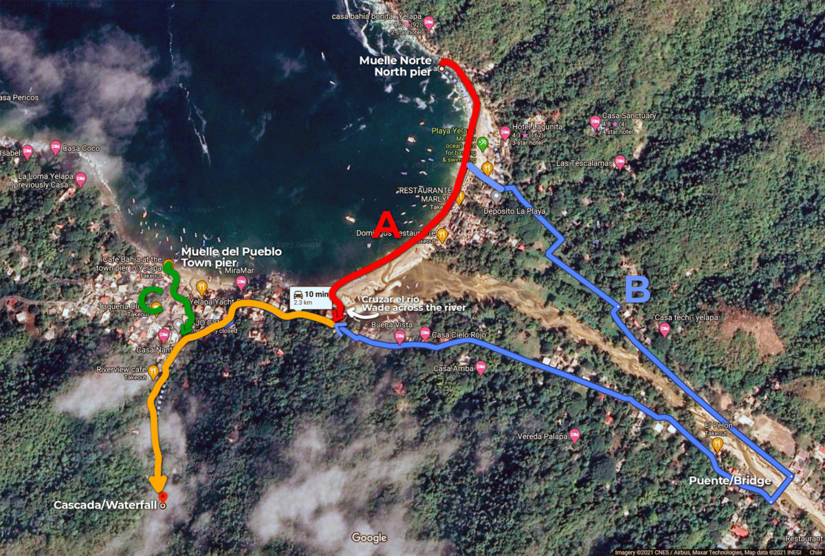 Yelapa waterfall, how to get there