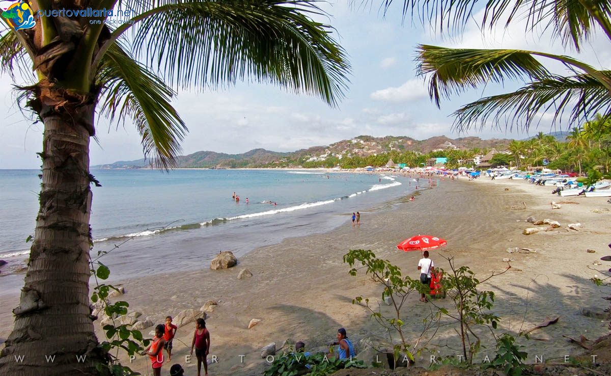 Sayulita Beach looking east from the west end