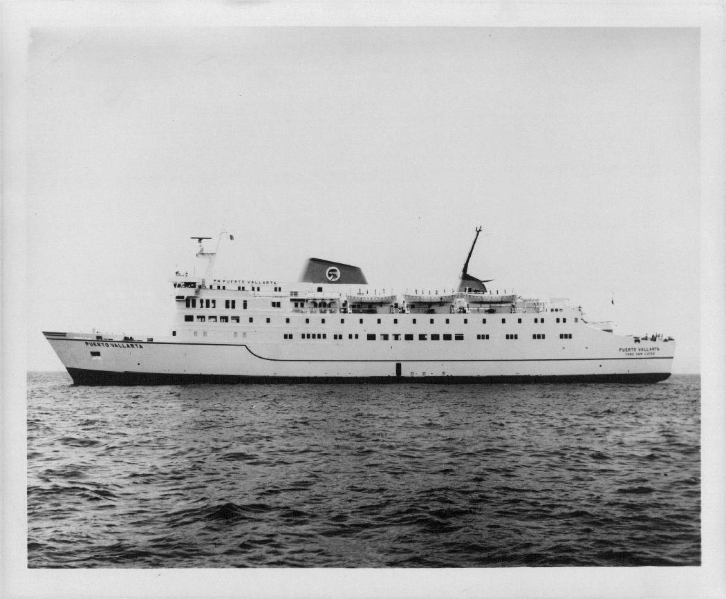 Ferry de Cabo San Lucas a Puerto Vallarta, 1975