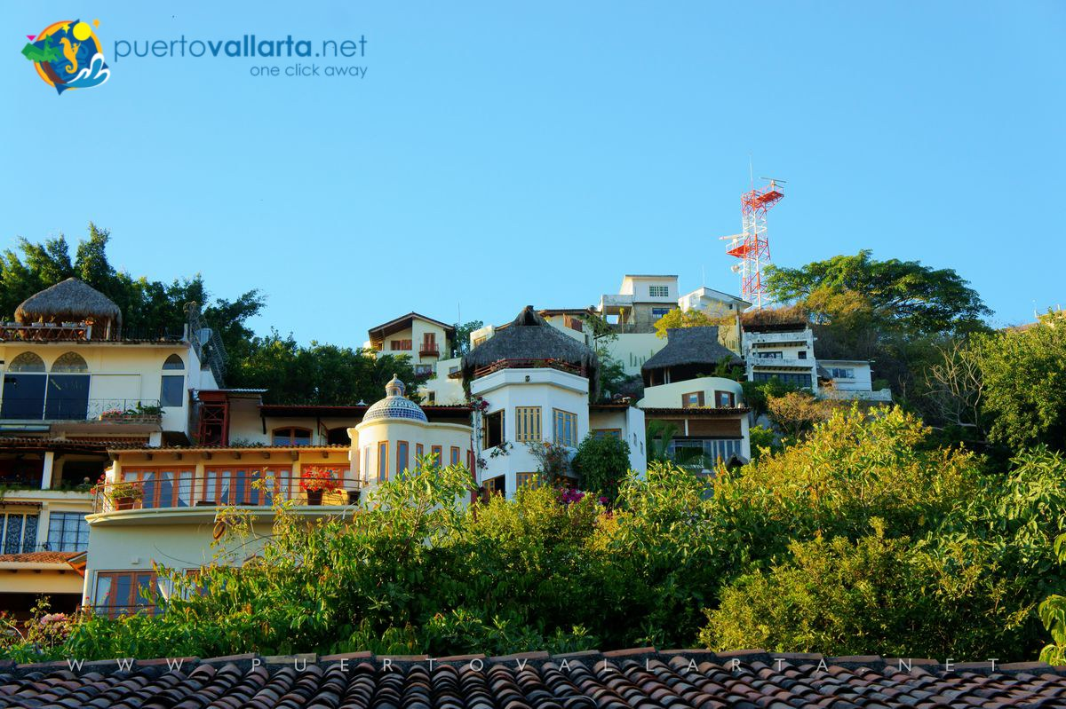 Gringo Gulch as seen from the Cuale River Island, downtown Puerto Vallarta