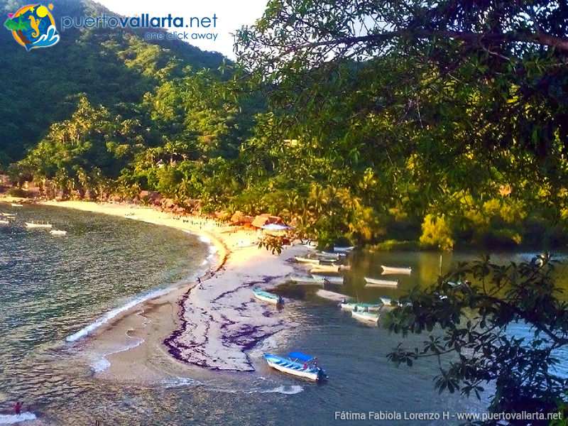 Main Beach and river mouth in Yelapa (Cabo Corrientes, Jalisco, Mexico)