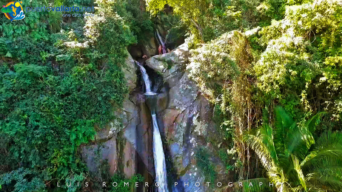 Yelapa waterfall in town (Cabo Corrientes, Jalisco, Mexico)