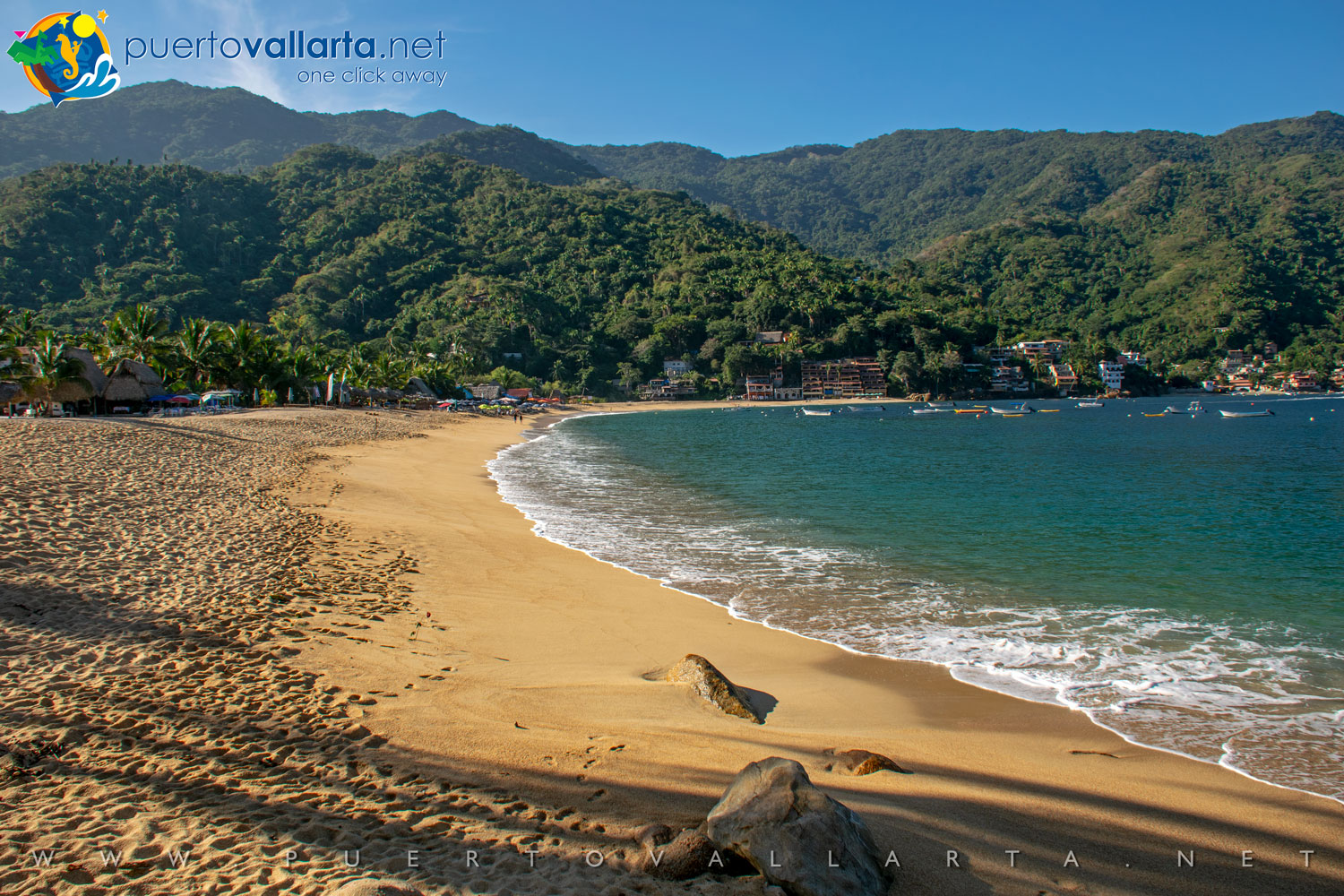 Yelapa Main Beach from the east looking west (Cabo Corrientes, Jalisco, Mexico)