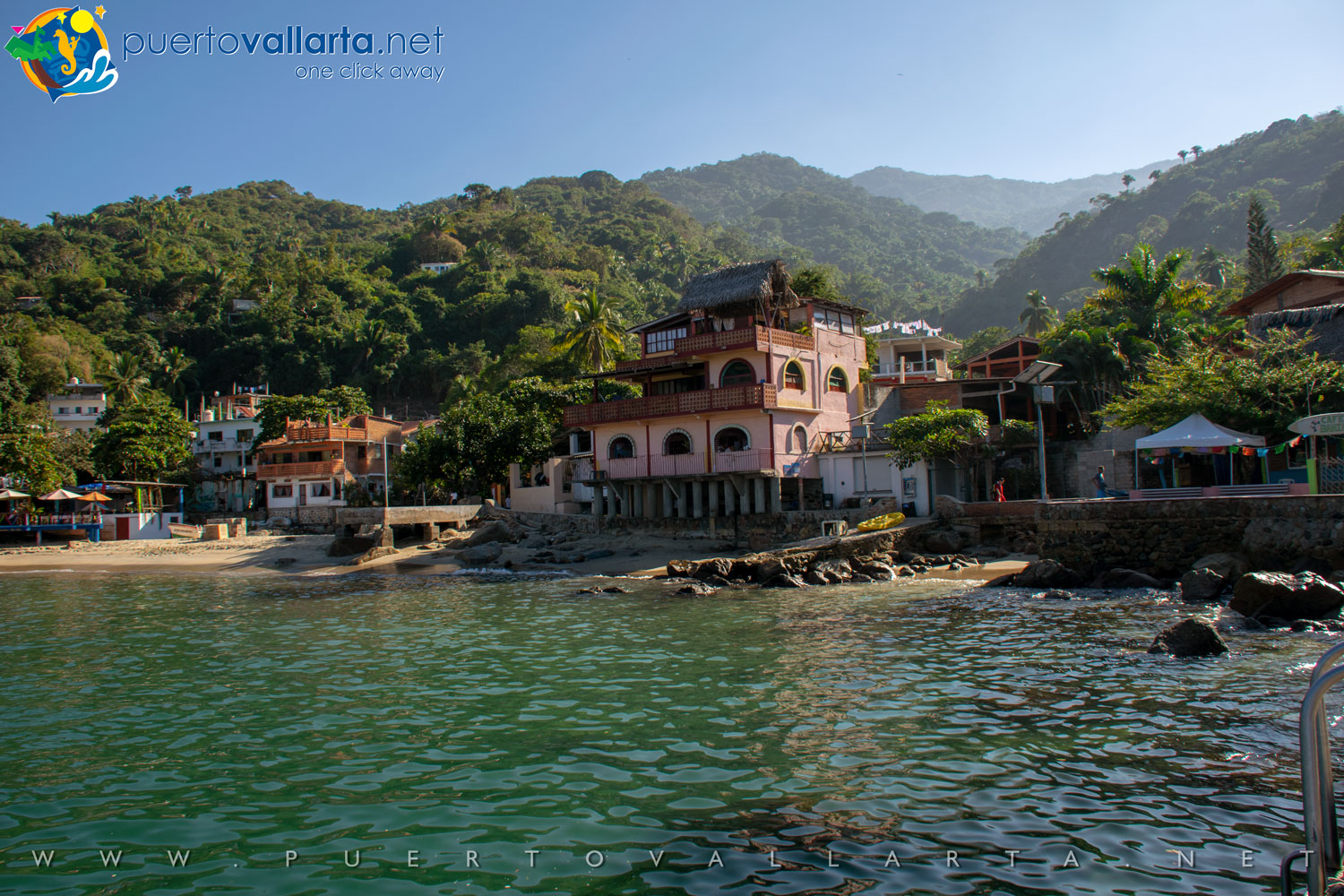 Yelapa seen from the west pier (Cabo Corrientes, Jalisco, Mexico)