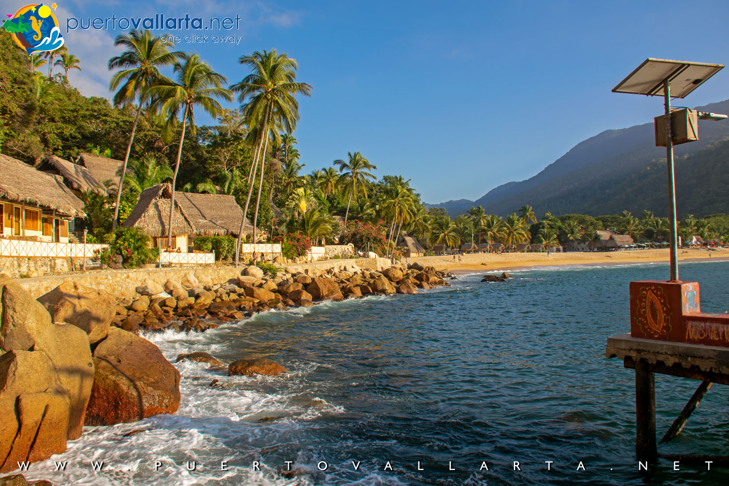 Yelapa view from the east pier (Jalisco, Mexico)