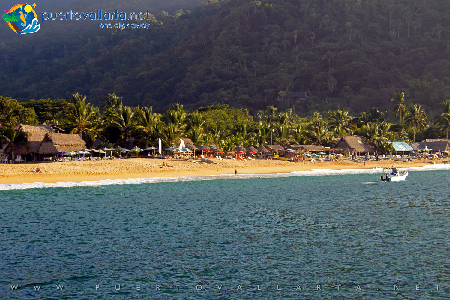 Yelapa main beach view from the east pier (Jalisco, Mexico)