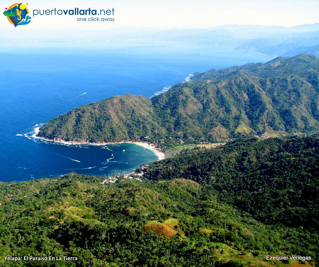 Yelapa seem from the west (Cabo Corrientes, Jalisco, Mexico)